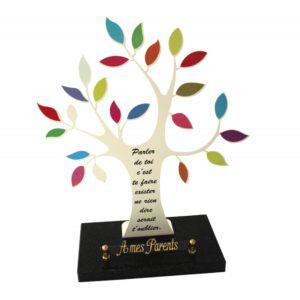 plaque funeraire arbre de vie personnalisee