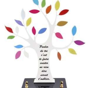 plaque funéraire arbre de vie couleurs