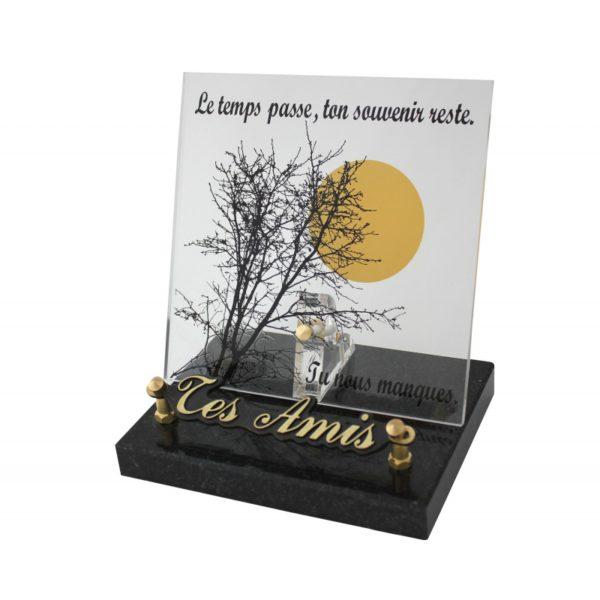 plaque funeraire arbre soleil personnalisee
