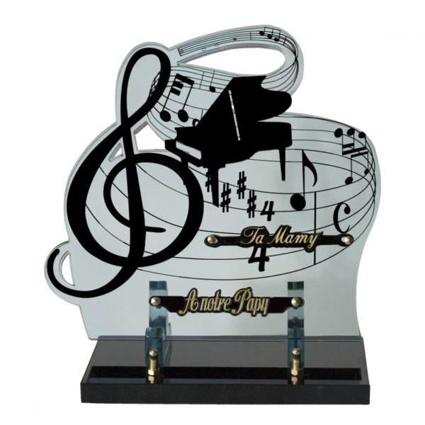 plaque funeraire moderne musique instruments