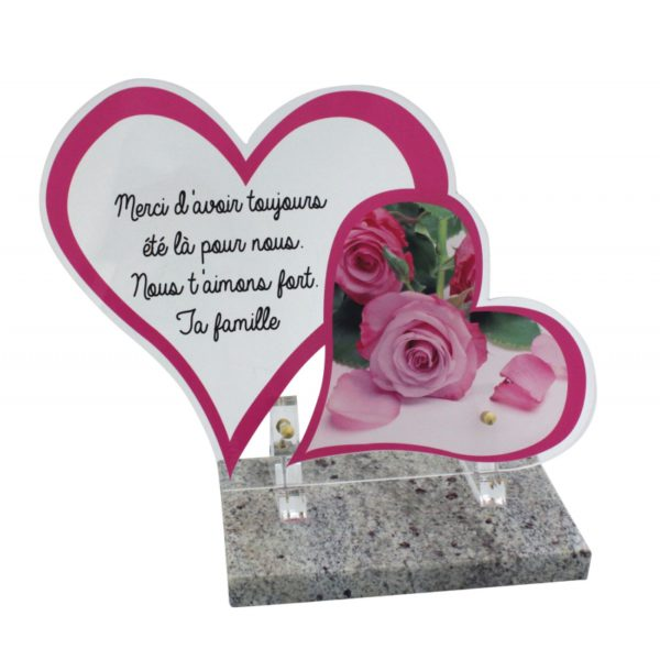 plaques funeraires modernes photo roses