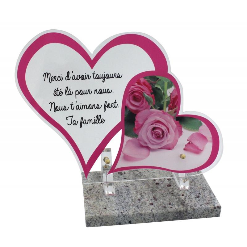 plaques funeraires modernes photo roses