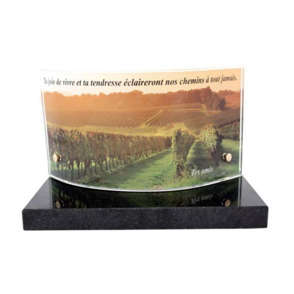 plaque funeraire photo vignes