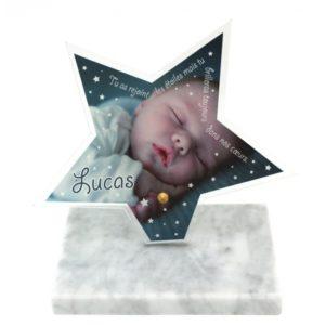plaque funeraire enfant design etoile