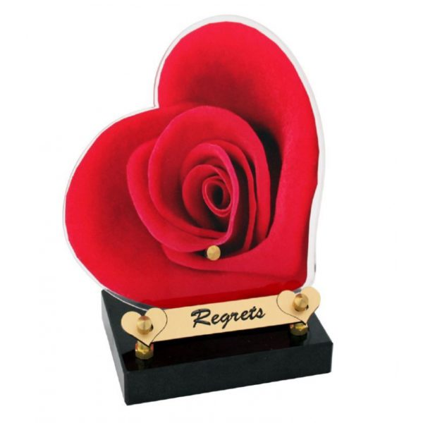 plaque funeraire columbarium rose rouge personnalisable