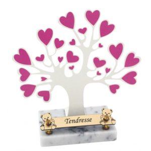 plaque funéraire enfant arbre coeur