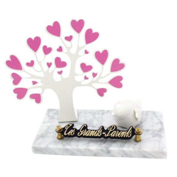 plaques funeraires enfant arbre coeur oiseau