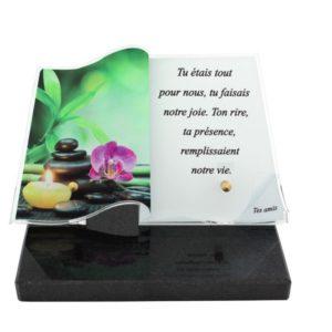 plaques funeraires originales zen personnalisees