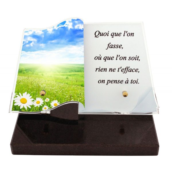article funeraire livre photo champ personnalise
