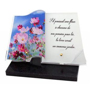 plaques funeraires livre photo personnalisables