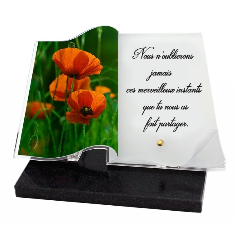 plaque mortuaire livre texte personnalisé