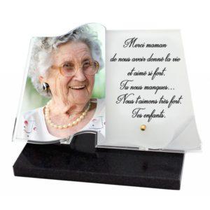 plaques funeraires livre personnalisables photo