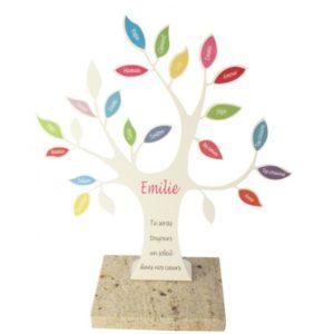plaque funeraire arbre de vie personnalisée design