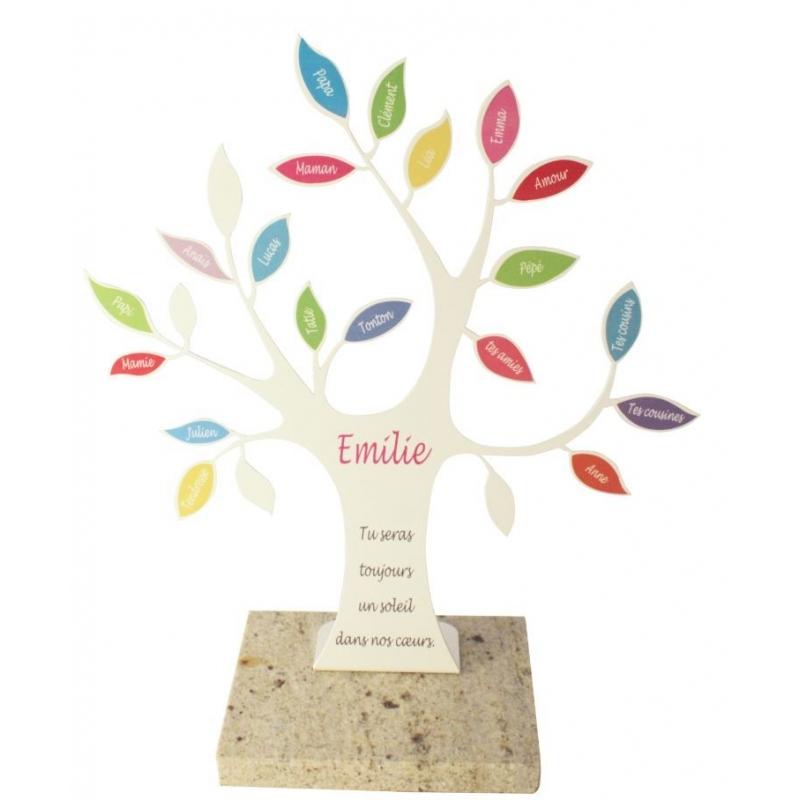 plaque funeraire arbre de vie personnalisable