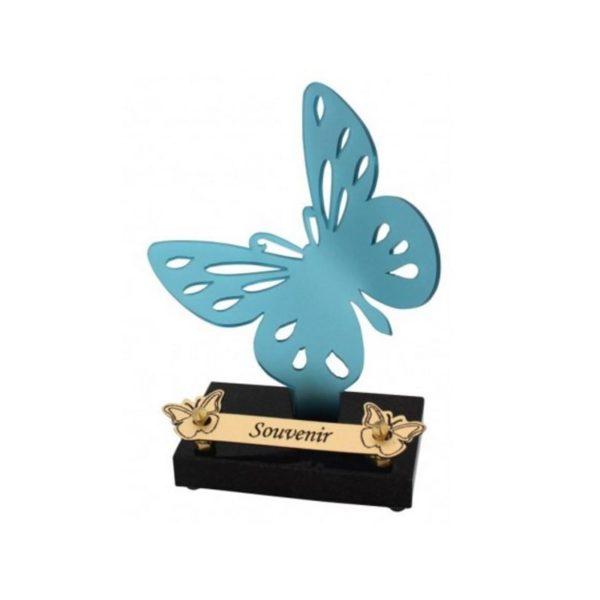 plaque funéraire moderne papillon