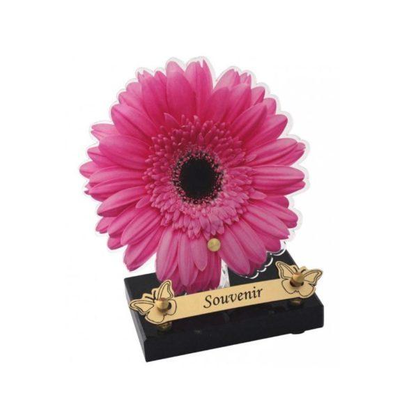 plaque funéraire moderne fleur gerbera