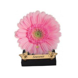 plaques funeraires fleur rose