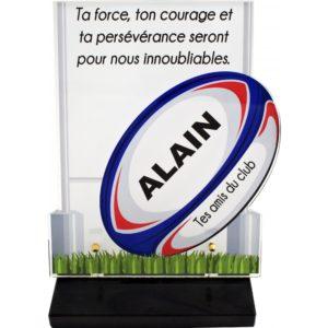 plaque funeraire originale rugby