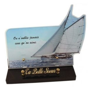 plaque funeraire originale voilier personnalisable