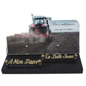 plaque funeraire originale tracteur
