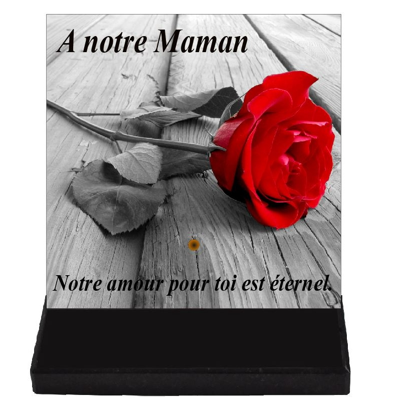 plaque funeraire carre rose
