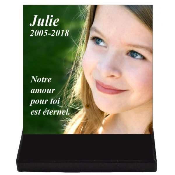 plaque funeraire enfant photo personnalisee