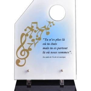 plaque funeraire design moderne musique