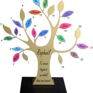 plaque funéraire design arbre de vie
