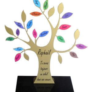 plaque funéraire moderne arbre de vie