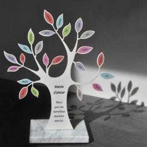 plaque funéraire design original couleurs textes personnalisée