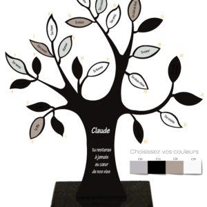 plaque funeraire arbre de vie noir