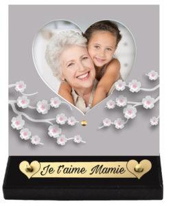 plaque funéraire photo coeur