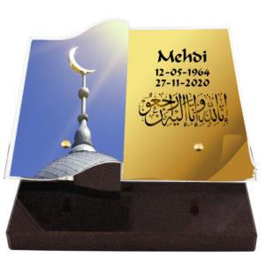 plaque funeraire musulman mosquee coran