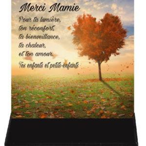 plaque funeraire pour une mamie
