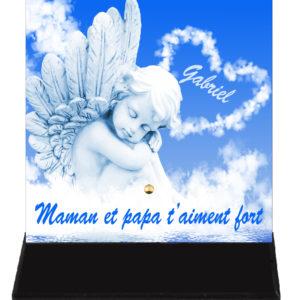 plaque funéraire ange